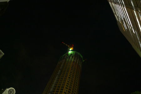 中目黒のクレーン(2009年1月)